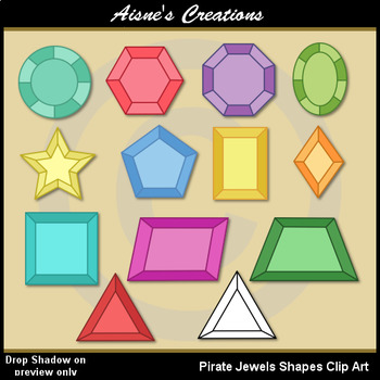 Pirate Shapes (Jewels) Clip Art