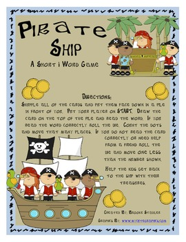 Pirate Ship - A SHort i Word Board Game