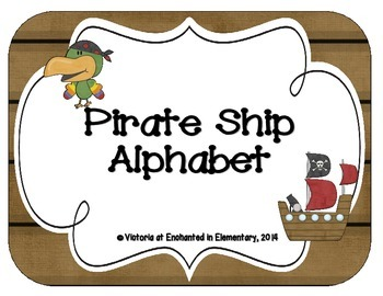 Pirate Ship Alphabet Cards