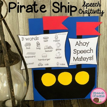 Pirate Ship Craft for Speech Therapy {language & articulation}