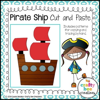 Pirate Ship Cut and Paste