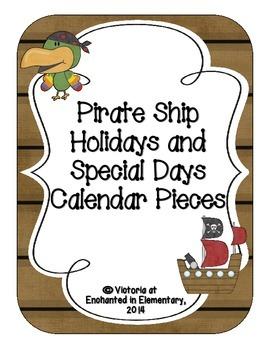 Pirate Ship Holiday Calendar Pieces