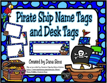 Pirate Ship Name Tags and Desk Tags