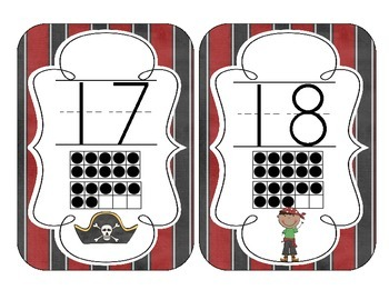 Pirate Ship Number Cards 1-20