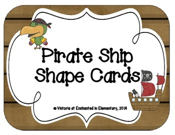Pirate Ship Shape Cards