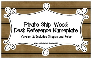 Pirate Ship Wood Desk Reference Nameplates Version 2
