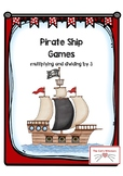 Pirate Ships Multiplying and Dividing by 3 Games