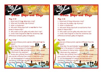 Pirate Ships and Flags Comprehension