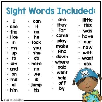 Pirate Sight Word Flash