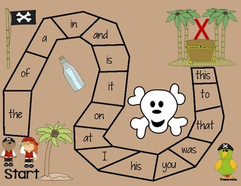 Pirate Sight Word Game
