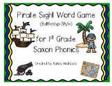 Pirate Sight Word Game (Battleship-style) for 1st Grade Saxon Phonics