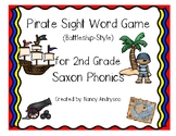 Pirate Sight Word Game (Battleship-style) for 2nd Grade Sa