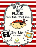 Fun Pirate Sight Word Game: Walk the Plank! (Fry Word List 1-100)