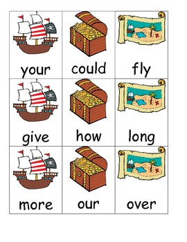 Pirate Sight Words - First Grade