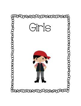 Pirate Sign Girls