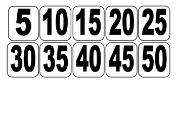 Pirate Skip Counting Math Center Printables