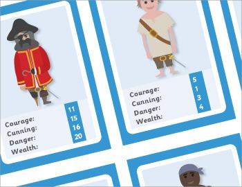 Pirate Snap Cards and Top Trumps Games