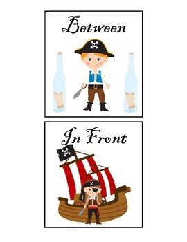 Pirate Spatial Concept Cariboo with Flashcards