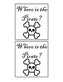 Pirate Spatial Concept Flashcards