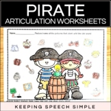 Pirate Speech - No Prep Articulation Worksheets for Speech Therapy