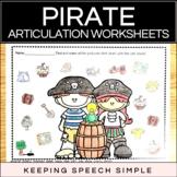 Pirate Speech - No Prep Articulation Worksheets for Speech