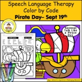 Pirate Speech Therapy Color By Code Grab and Go Activity