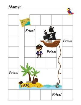 Pirate Sticker/Behavior Chart - ink friendly