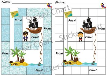 Pirate Sticker/Behavior Chart