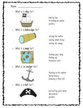 A Pirate Story: Reading & Vocabulary