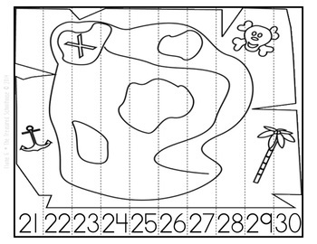 Number Strip Puzzles - Pirate