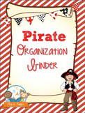 Pirate Student Organization and Parent Communication Binder {personalize it}