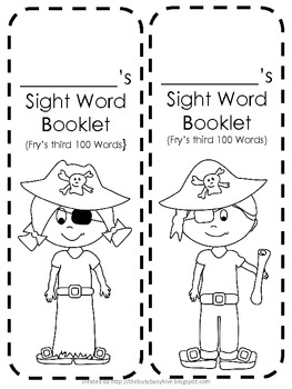 Pirate Student Sight Word Booklet {Fry's third 100 Words}
