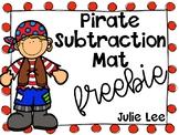 Pirate Subtraction Mat FREEBIE