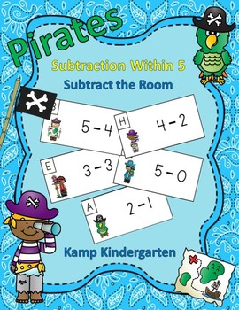 Pirates Subtraction Within 5 Subtract the Room
