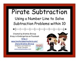 Pirate Subtraction with Number Line