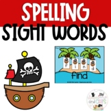 Pirate Summer Sight Word Spelling Task Cards Review Game