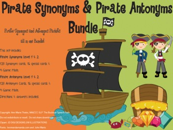 Pirate Synonyms & Antonyms BUNDLE