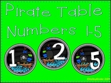 Pirate Table Numbers 1-5