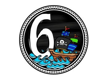 Pirate Table Numbers- FREE!
