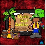 Pirate Task Cards (Double Digit Addition with Regrouping)