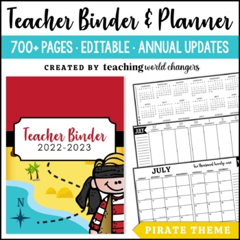 Pirate Teacher Binder