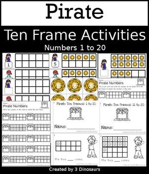 Pirate Ten Frame Activities (1-20)