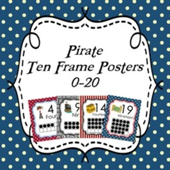 Pirate Ten Frame Posters 0 - 20