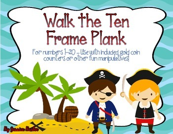 Pirate Ten Frame cards for 1-20