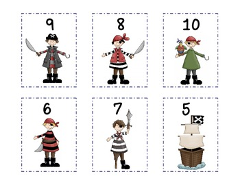 Pirate Tens Partners Game - Sums of Ten