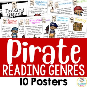 Pirate Theme: 10 Reading Genre Posters