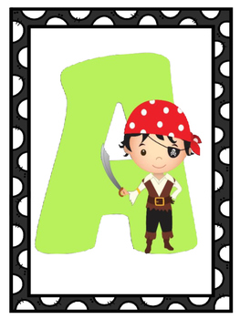 Pirate Theme Alphabet Posters | Pirate Themed Classrooom | Pirates Theme