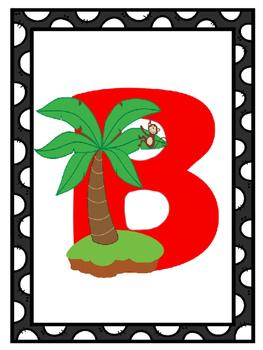 Pirate Theme Alphabet Posters | Pirate Themed Classrooom | Pirates Theme