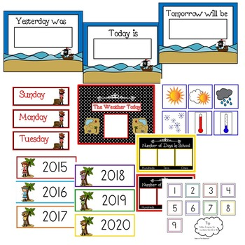 Pirate Theme Classroom Decor EDITABLE