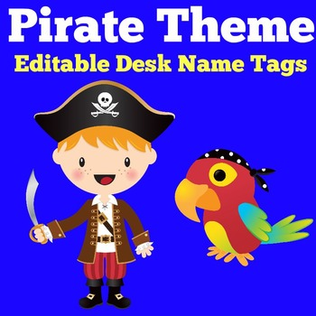 Pirate Theme Name Tags | Pirate Themed Classrooom | Pirates Theme